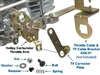 Universal carburetor, throttle valve cable repair