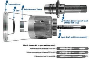 77733-05K 4L60E 4L65E 4L70E Transmisson Reinforced Input Housing & Upgraded  Input Shaft Kit