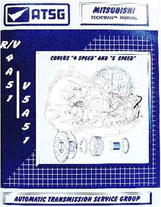 56TM05 R4A51 R5A51 V4A51 Mitsubishi Transmission Repair Manual 4 5 Speed